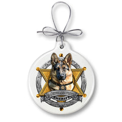 Elite Breed Police Christmas Tree Ornaments