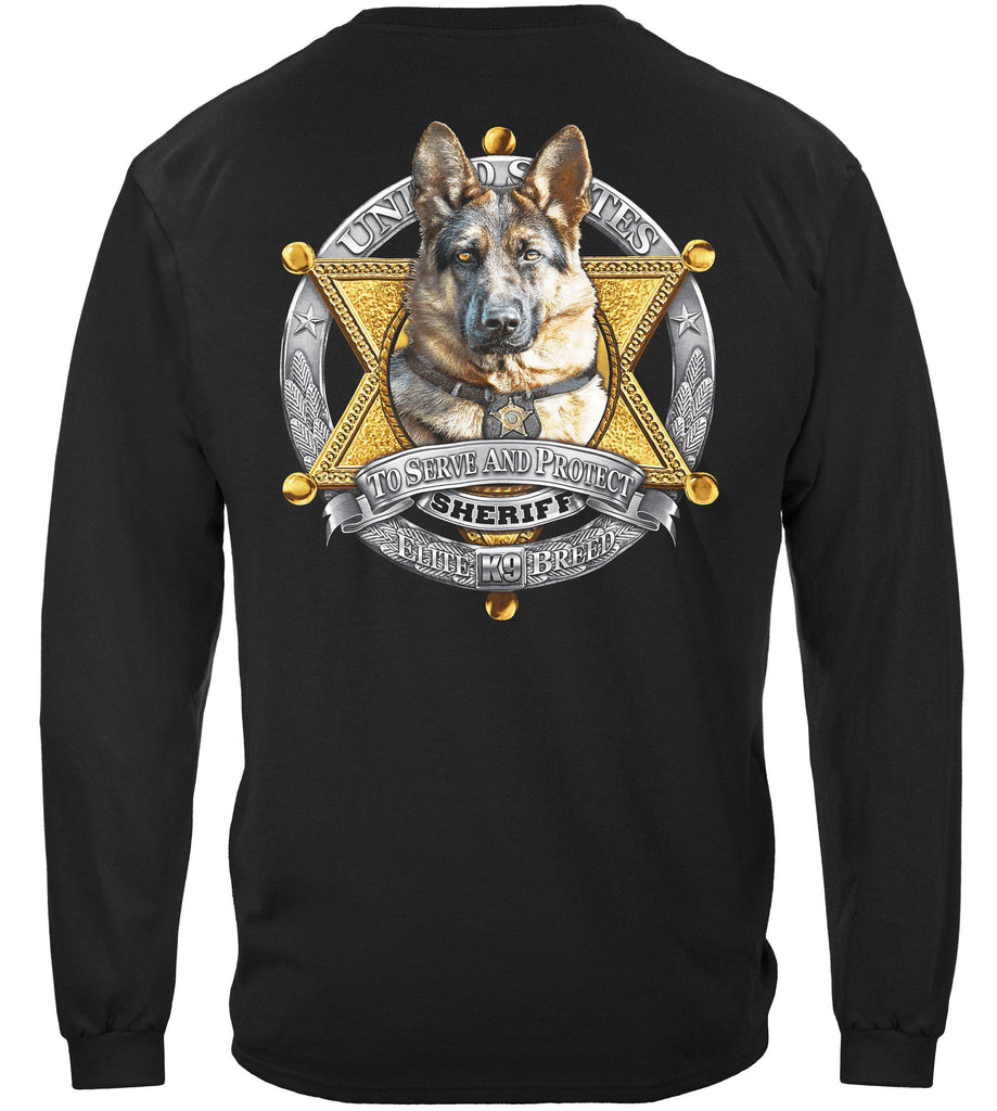 Elite Breed K9 Sheriff Law Enforcement Police Premium Long Sleeve T-Shirt