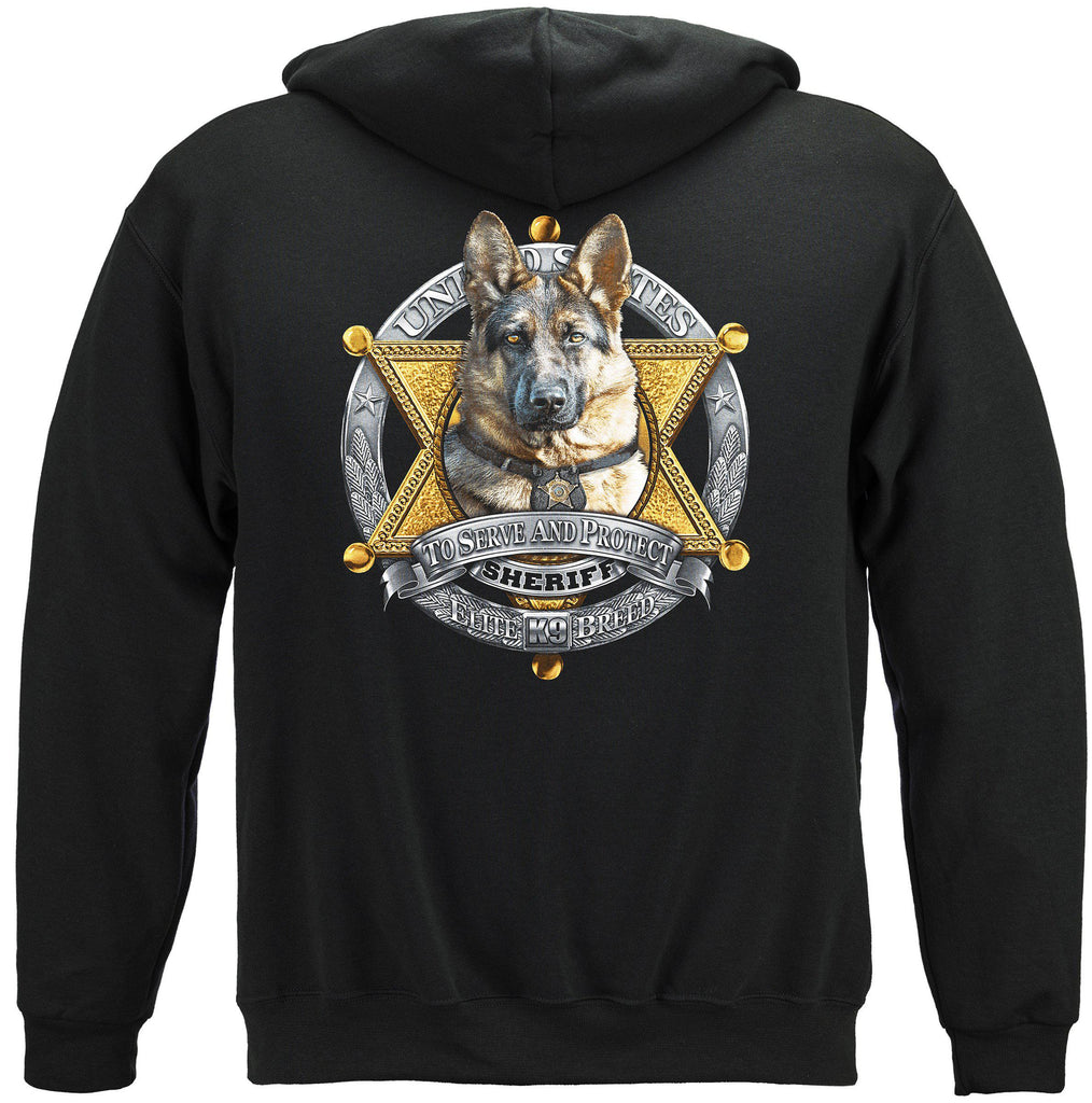 Elite Breed K9 Sheriff Law Enforcement Police Premium Hoodie Sweatshirt