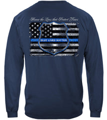 Police Blue Lives Matter Premium Long Sleeve T-Shirt