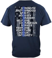 Police Thin Blue Line Strength Brother Premium Long Sleeve T-Shirt