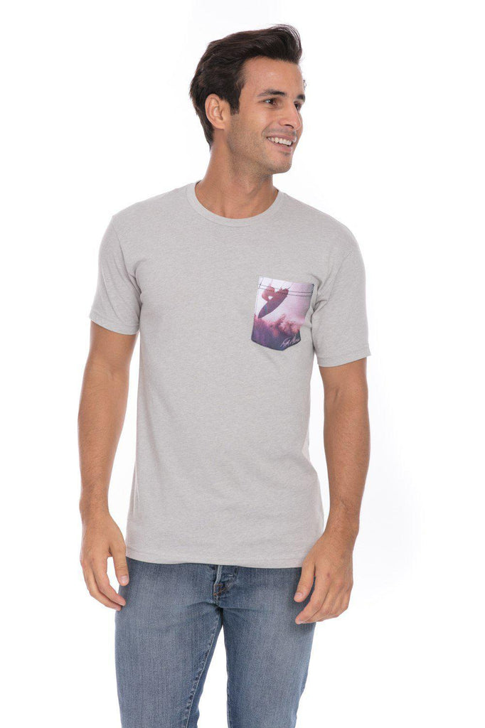 Surf In Air Surfing Surfer Soft T-Shirt Tee Printed Pocket