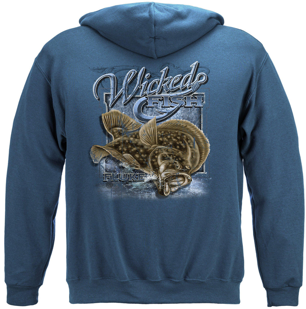 Fightin Fluke Premium Fishing Hoodie Sweatshirt