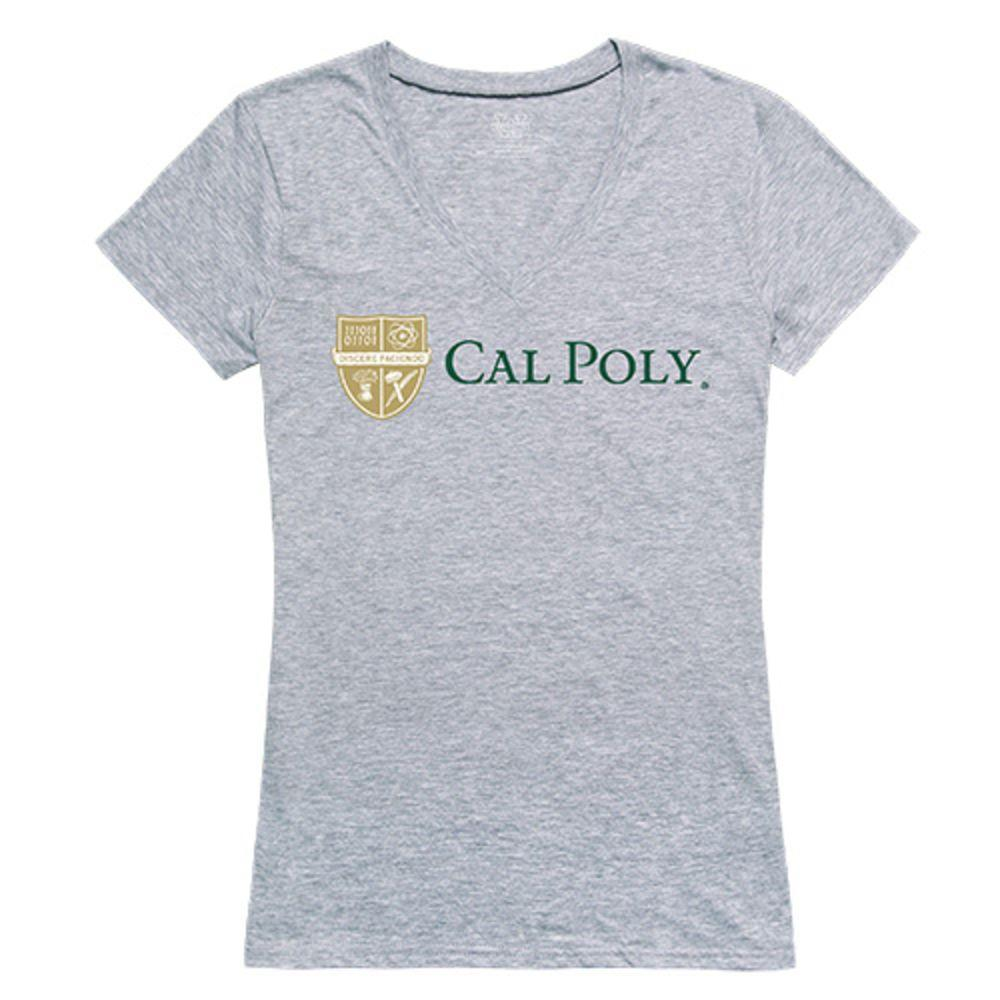 California Polytechnic State University Mustangs NCAA Women's Seal Tee T-Shirt