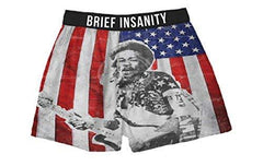 Brief Insanity Jimi Hendrix Silky Boxer Shorts Gifts for Men Women
