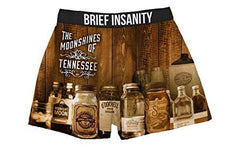 Brief Insanity Moonshines of Tennessee Silky Funny Boxer Shorts Gifts for Men Women