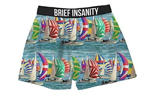Brief Insanity Sailing Regatta Silky Funny Boxer Shorts Gifts for Men Women