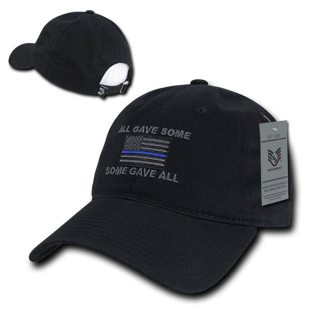 All Gave Some Thin Blue Line American Flag Baseball Dad Caps Hats Washed Cotton