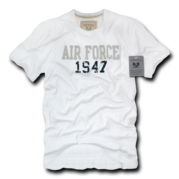 Rapid Dominance Army Air Force Navy Marines Applique Military Year T-Shirts Tees