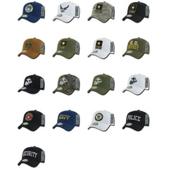 Army Air Force Navy Marines Police Security Cotton Baseball Hats Caps