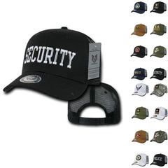 Army Air Force Navy Marines Police Security Military Back to Basics Trucker Baseball Hats Caps