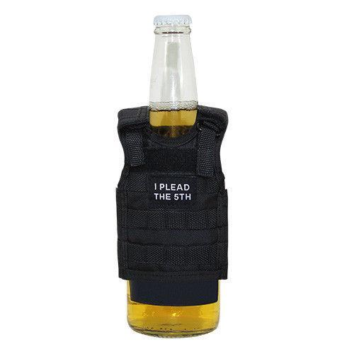 Beer Soda Water Can Bottle Cooler Carrier Insulator Tactical Vest Molle 16Oz