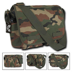 Camouflage Cotton Canvas Shoulder Messenger Bag Army Military Style Satchel