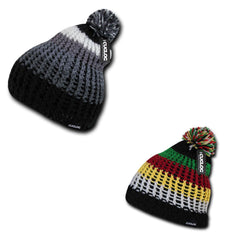 Cuglog Matterhorn Rugged Beanies Pom Style Thick Knit Winter Cuffed Caps Hats