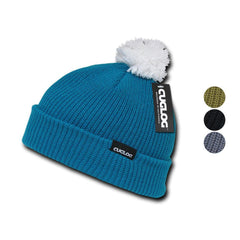 Cuglog Sailor Cuffed Pom Beanies Warm Winter Watch Knit Ski Caps Hats