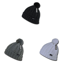 Cuglog Vesuvious Cuffed Beanies Long Pom Pom Style Winter Caps Hats