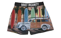 Brief Insanity Woody Wagon Surfboards Beach Silky Boxer Shorts Gifts for Men Women Surfers