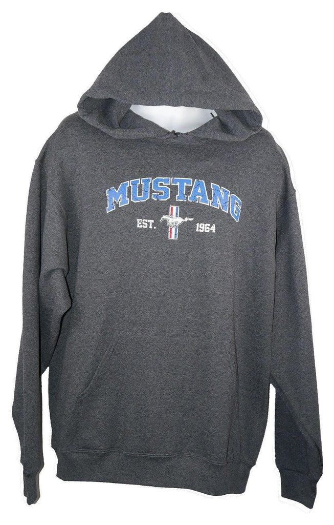 David Carey Ford Mustang Vintage 1964 Logo Pullover Fleece Sweatshirt Hoodie