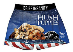 Brief Insanity Hush Puppies Dog Lovers American Fido Silky Boxer Shorts Gifts for Men Women