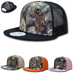 Decky Camouflage Hybricam Trucker 6 Panel Baseball Flat Bill Caps Hats
