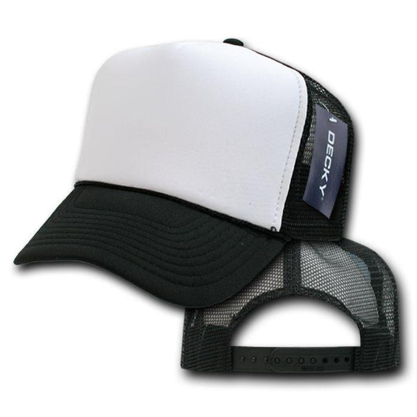 65f32ae8a14 Decky Classic Trucker Hats Caps Foam Mesh Two Tone Blank Plain Solid S –  Serve The Flag