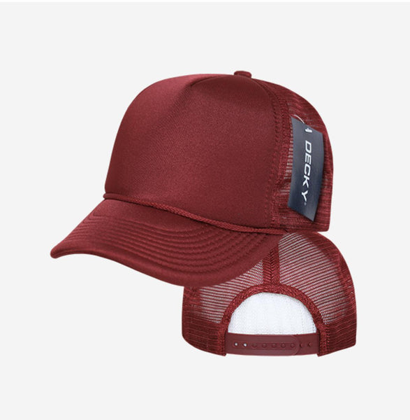 8fa6dab5825ba Decky Classic Trucker Hats Caps Foam Mesh Two Tone Blank Plain Solid S –  Serve The Flag