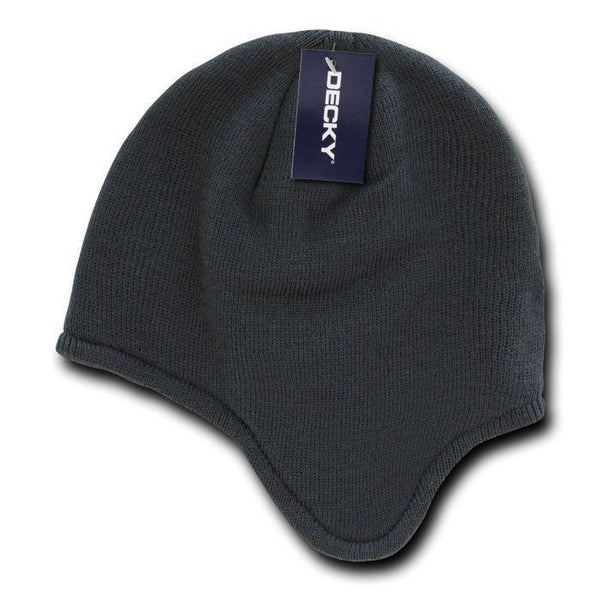 d735895f955 Decky Helmet Beanies Warm Winter Fleece-Lined Inside Ear Flap Ski Snow –  Serve The Flag