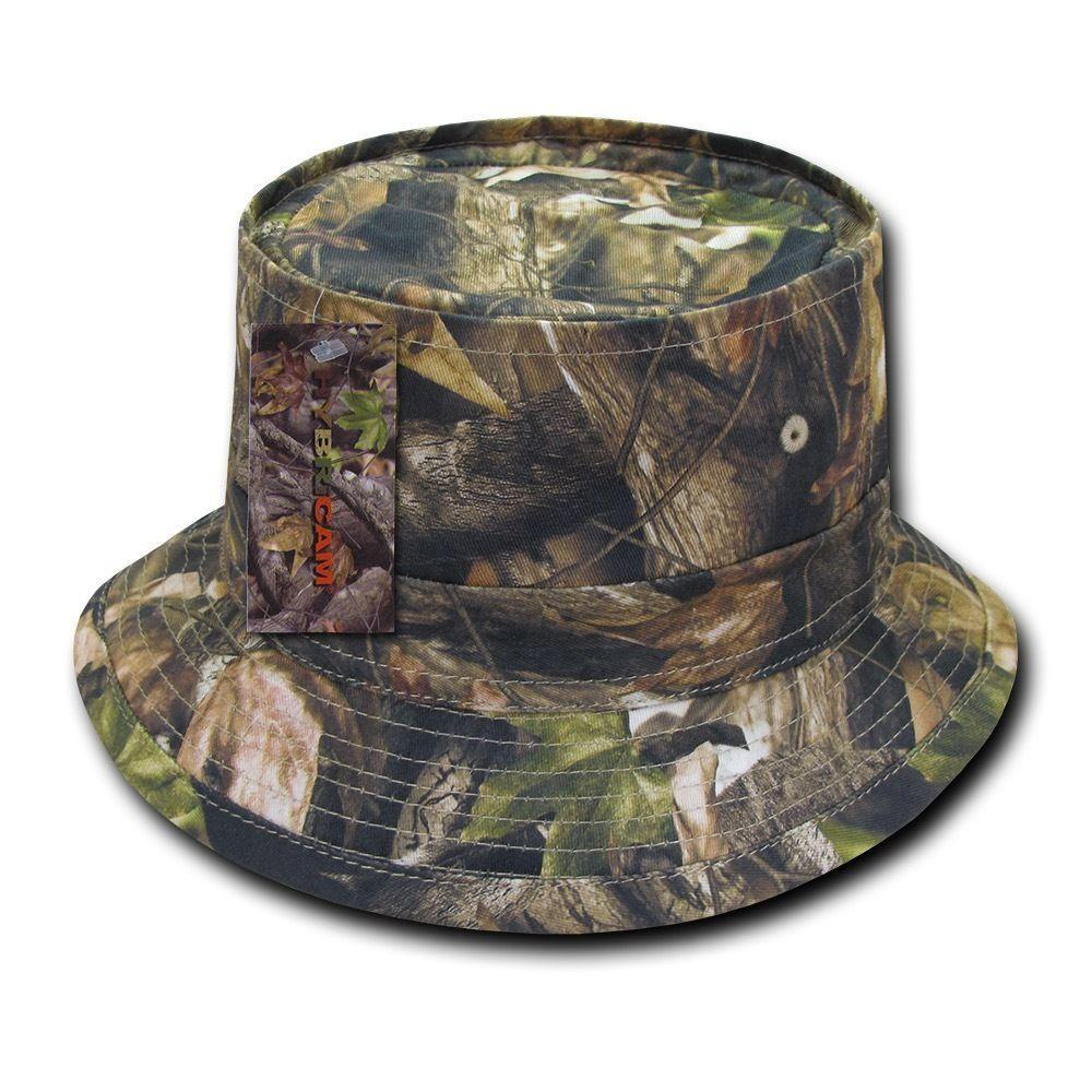Decky Hybricam Camo Cotton Hunting Army Fisherman Bucket Hats Caps