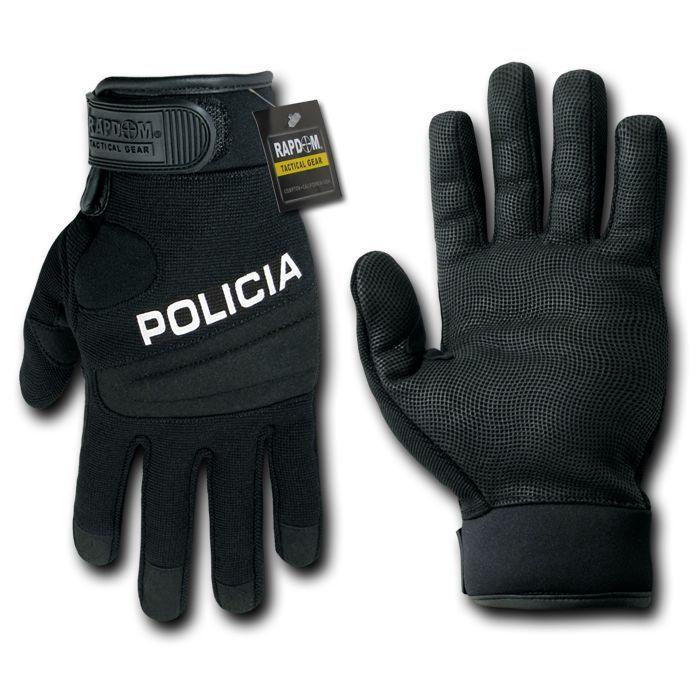 Digital Leather Police Policia Security Swat Tactical Hatch Gloves