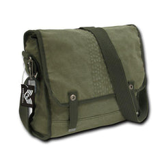 Distressed Army Military Shoulder Courier Messenger Bags Vintage Olive