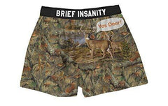 Brief Insanity Yes Deer Silky Funny Boxer Shorts Gifts for Men Women