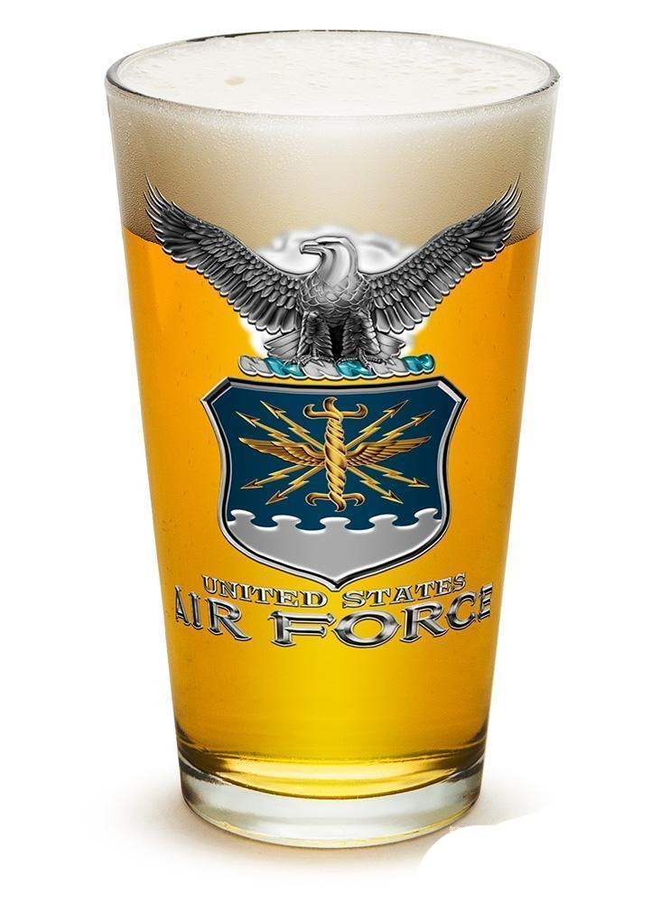 Erazor Bits Air Force USAF Missile- Set Of 2 - Large Pint Glasses 16Oz Drinkware