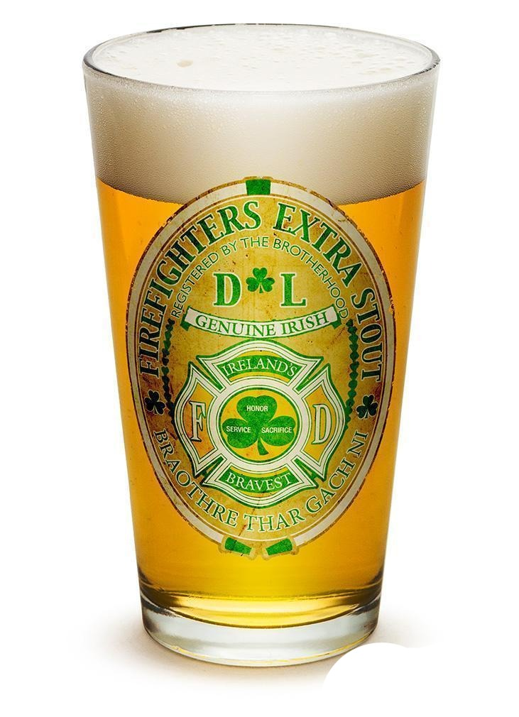 Erazor Bits Firefighter Ireland'S Bravest - Set Of 2 - Large Pint Glasses 16Oz D