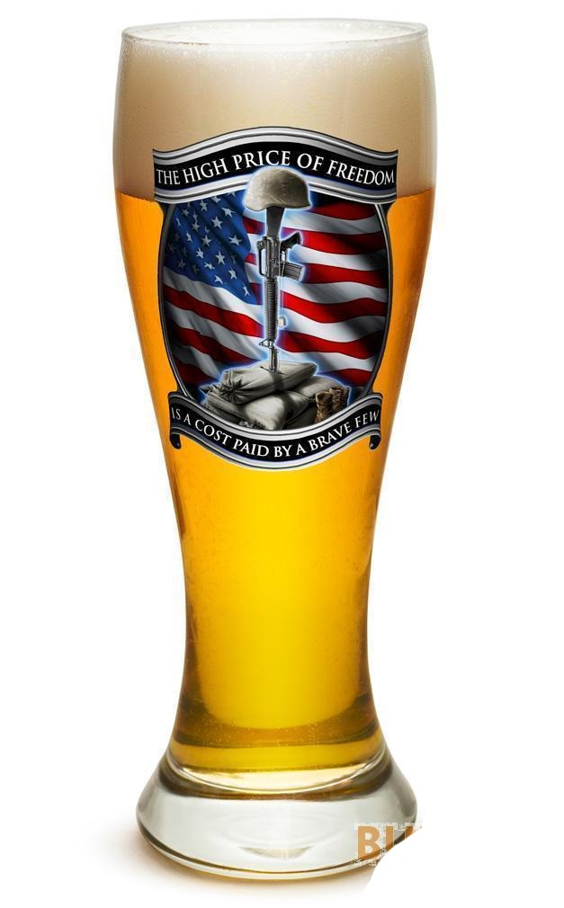Erazor Bits High Price Of Freedom- Set Of 2 - Large Pilsner Glasses 23Oz Drinkwa