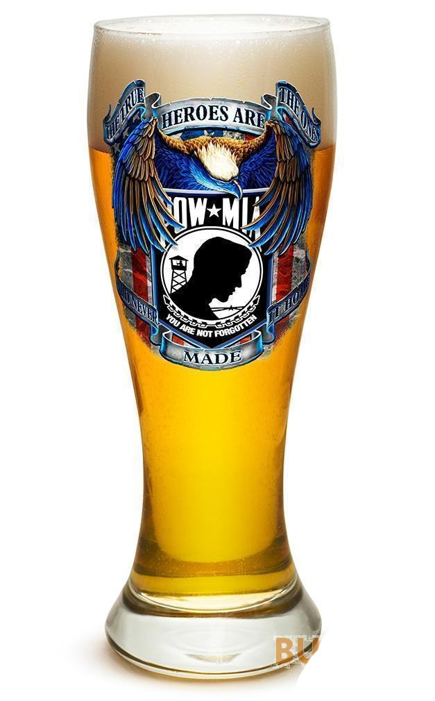 Erazor Bits True Heroes Pow Mia - Set Of 2 - Large Pilsner Glasses 23Oz Drinkwar