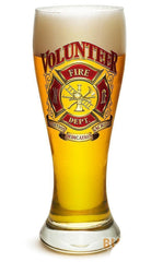Erazor Bits Volunteer Firefighter - Set Of 2 - Large Pilsner Glasses 23Oz Drink