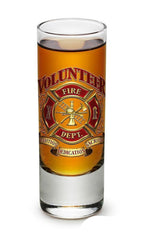 Erazor Bits Volunteer Firefighter - Set Of 2 - Shooter Shot Glass 2Oz Drinkware
