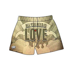 Brief Insanity All You Need is Love Silky Funny Boxer Shorts Gifts for Men Unisex