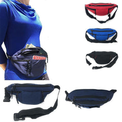 Fanny Pack Purse Travel Pouch Money Passport Id Zipper Waist Belt Bag 4 Pockets 48inch