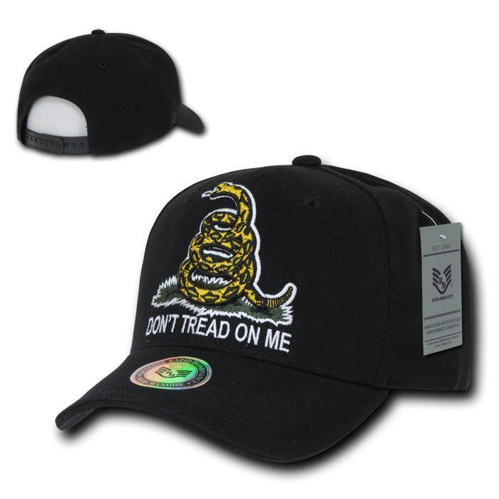 Gadsden Flag 3D Don'T Tread On Me Snake Texas Tea Party Hats Caps