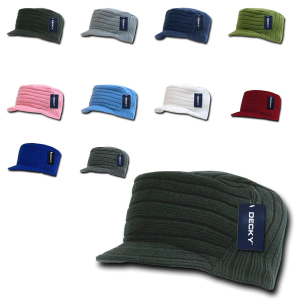 0f15b3d2 Gi Cadet Army Military Flat Top Jeep Beanies Caps Hats Ribbed Knit Vis –  Serve The Flag
