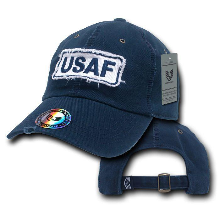 Giant Stitch Military Polo Army Marines Navy US Air Force Baseball Hat Caps