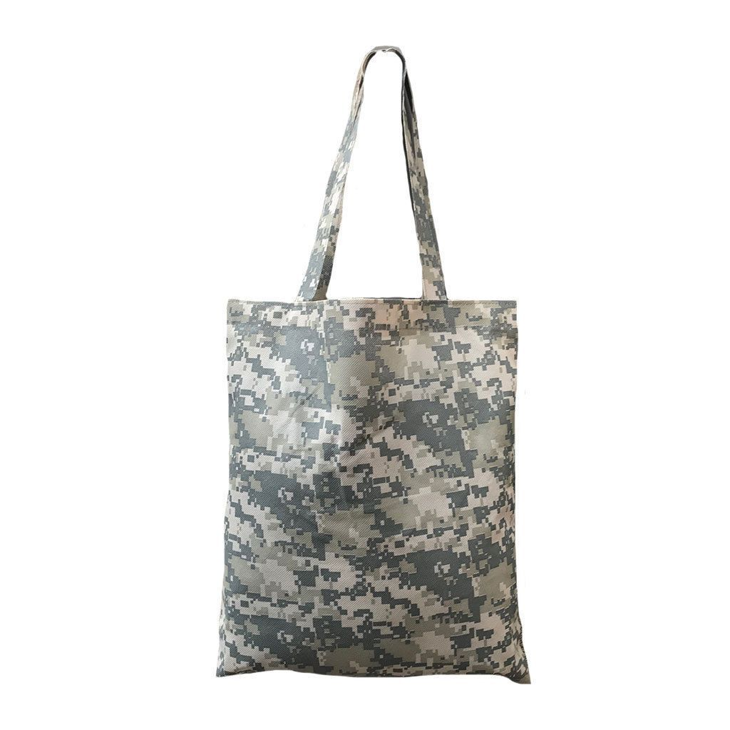Reusable Grocery Shopping Tote Bags Digital Camo Camouflage Acu Army
