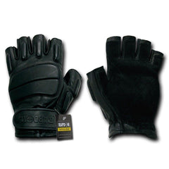 Half Finger Riot Tactical Patrol Army Military Black Gloves