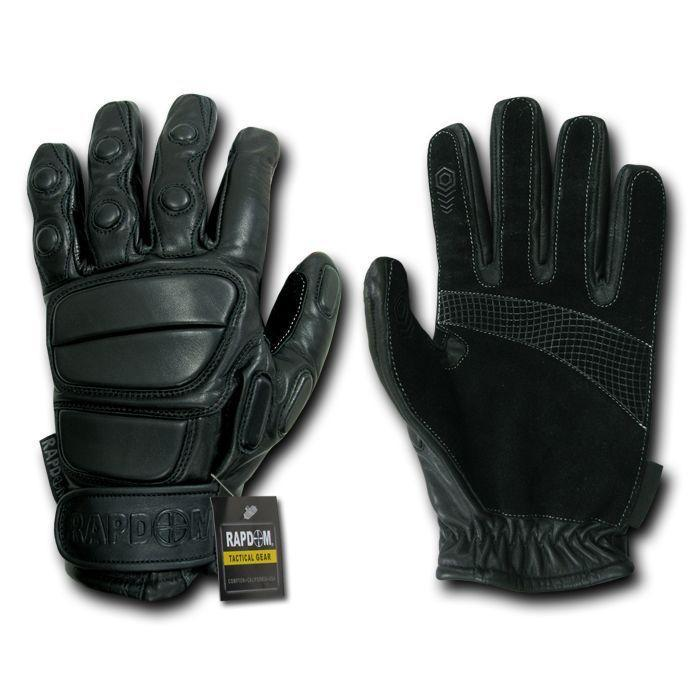 Heavy Duty Rappelling Fast Roping Suede Leather Tactical Gloves