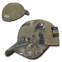 Hybricam Camouflage Tactical Hunting Air Mesh Pre Curved Bill Patch Caps Hats