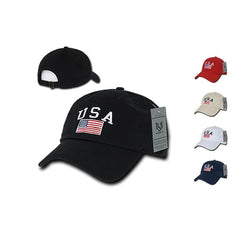 Patriotic USA Flag Cotton Polo Relaxed Dad Hats Caps Unisex Mens Women Rapid New