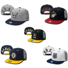 Jumbo Back series 2 Two Tone Air Force Navy Marines Coast Guard Hats Caps