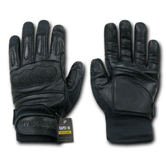Kevlar / Leather Tactical Hard Knuckle Combat Patrol Gloves