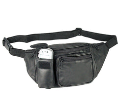 Leather Fanny Pack Travel Pouch Man Purse Passport Waist Bag Phone 6 Pockets 52inch